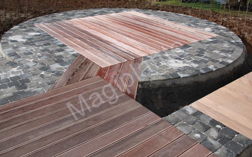 Terrasse de jardin bruxelles la rochelle 12 - Margelle piscine contemporaine tours ...